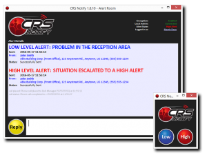CRS Notify Panic Button Software Example